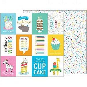 Papel Scrapbook - 30x30 - Birthday Wisher - Pebbles