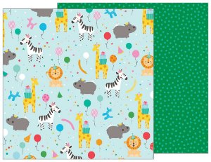 Papel Scrapbook - 30x30 - Party Animal - Pebbles