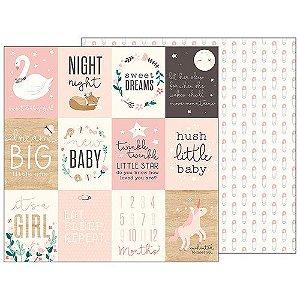 Papel Scrapbook - 30x30 - Sweet Baby Girl - Pebbles