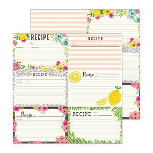 Papel Scrapbook - 30x30 - Patio Party - Recipe Cards - Pebbles
