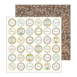 Papel Scrapbook - 30x30 - My Bright Life - Cross Stitched - Pebbles