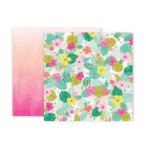 Papel Scrapbook - 30x30 - Confetti Wishes Paper 5 - Pink Paislee