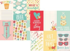 Papel Scrapbook - 30x30 - 4x6 Vertical Elements - Summer Days -  Verão -  Simple Stories