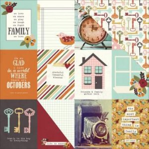 Papel Scrapbook - 30x30 - 3x4 Journaling Card Elements - Simple Stories