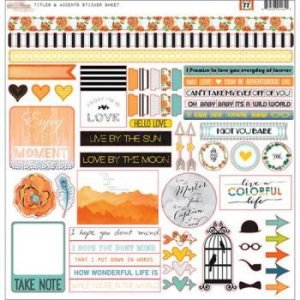 Adesivos 30,5x30,5 cm Stickers Titles & Accents - 77- Glitz