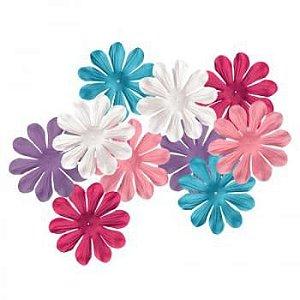 Flores de tecido Fancy Blossoms Posh - Imaginisce