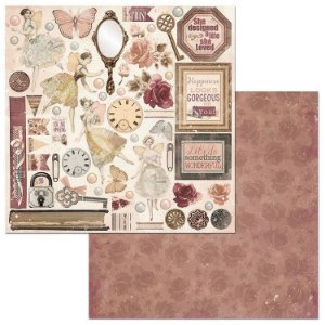 Papel scrapbook 30x30 Charmed - Perfeição - Bo Bunny