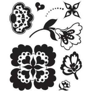 Cartela de carimbos de silicone Blossom Bitsy - Basic Grey