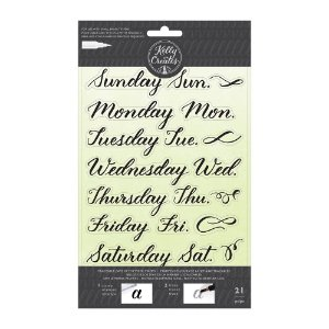 Carimbo de Silicone - Kelly Creates - Traceable Stamps Days of the Week - AC