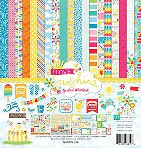 Kit coordenado - Collection Kit - I Love Sunshine  30x30 - Echo Park