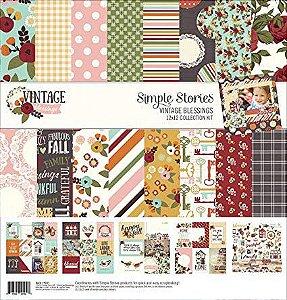 Kit coordenado - Collection Kit - Vintage Blessings 30x30 - Simple Stories