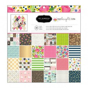Bloco papel scrapbook 30x30 My Bright Life - Pebbles