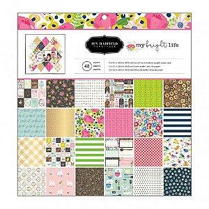 Bloco papel scrapbook 30x30 My Bright Life - Pebbles