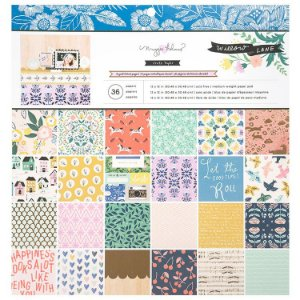 Bloco papel scrapbook 30x30 Willow Lane - Maggie Holmes - Crate Paper