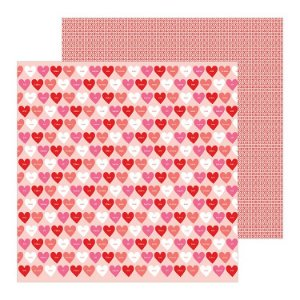 Papel scrapbook 30x30 Loves me - Love Talk - Amor - Pebbles