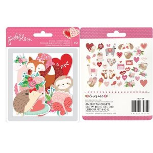 Die cuts Icons - Figuras - Loves me - Amor - Pebbles