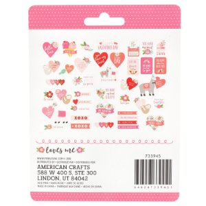 Die cuts Icons - Figuras e Frases - Loves me - Amor - Pebbles