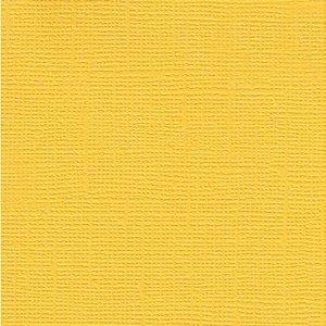 Papel de Scrapbook 30,5x30,5 cm - Cardstock  - Amarelo - Toke e Crie