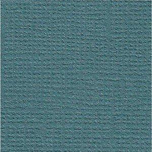 Papel de Scrapbook 30,5x30,5 cm - Cardstock  - Azul petróleo - Toke e Crie