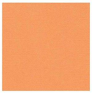 Papel de Scrapbook 30,5x30,5 cm - Cardstock  - Laranja Suave - Toke e Crie