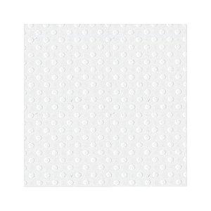 Papel de Scrapbook 30,5x30,5 cm - Cardstock  - Branco com textura de Bolinhas -  Toke e Crie