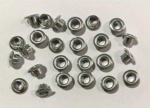 Ilhos de alumínio 3/16 cor Prata - Importado
