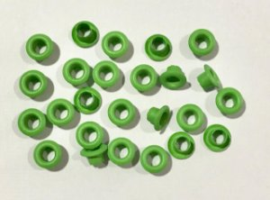 Ilhos de alumínio 3/16 cor Verde claro - Importado