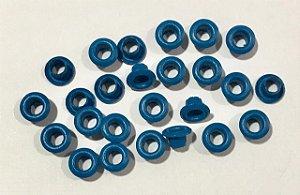 Ilhos de alumínio 3/16 cor Azul real - Importado