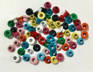 Ilhos de alumínio 1/8 Coloridos 50 peças - Importado
