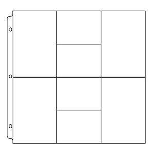 Refil plástico para álbum de scrapbook (compatível com Project Life) 8 divisórias - We R
