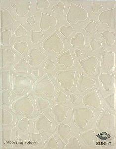 Placa de emboss - Corações - Sunlit