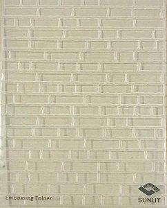Placa de emboss - Tijolinhos - Sunlit