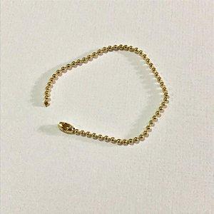 Corrente de bolinha dourada 1,5 mm - 10cm -  Importado