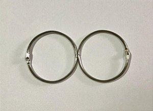 Kit 2 argolas articulada metal prata - 50mm diâmetro - Importado