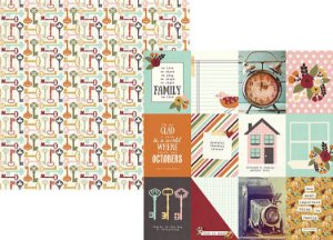 Papel para scrapbook -  30x30 - Dupla Face - 3x4 Journaling Card - Vintage Blessings - Simple Stories