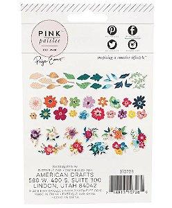Die cuts Flores e Folhas 40 peças Whimsical - Paige Taylor Evans - Pink Paislee