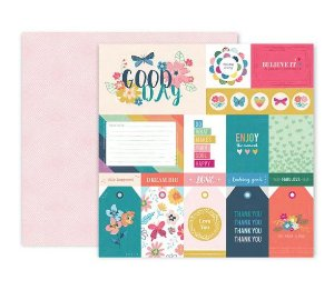 Papel scrapbook 30x30 Whimsical - #1 - Paige Taylor Evans - Pink Paislee