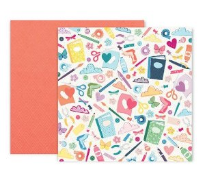 Papel scrapbook 30x30 Whimsical - #6 - Paige Taylor Evans - Pink Paislee