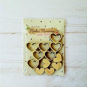 Recortes em madeira Cuore- Linha Minhas Memórias - Dany Peres