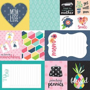 Papel Scrapbook - 30x30,5 -  Mom life - Bella Blvd
