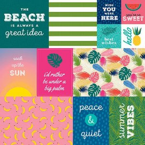 Papel Scrapbook - 30x30,5 -  Island Escape - Bella Blvd