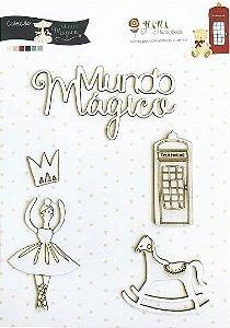 Cartela de Enfeites Mundo Mágico - Coleção Mundo Mágico - Juju Scrapbook