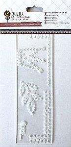 Régua de Costura Coroa e Folha - Coleção Mundo Mágico - Juju Scrapbook