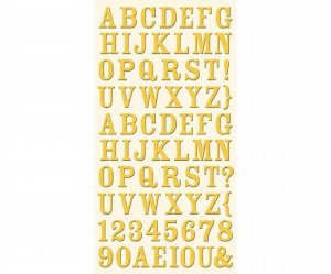 Adesivo em Chipboard - Alfabeto - Cosmo Cricket