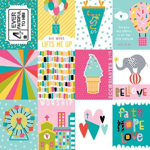 Papel para scrapbook - 30x30 - Delight in his day - Illustrated Faith