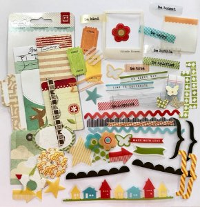 Die Cuts em papel e acetato - Serendipity e Shine on - Basic Grey