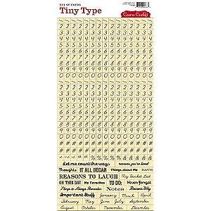 Adesivo Números e Frases - Tiny Type - Cosmo Cricket