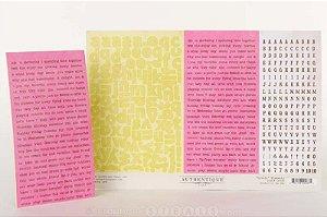 Cartela de adesivo 20x30 - Lively - Authentique