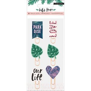 Clips Epoxy decorados Wild Heart - Crate Paper