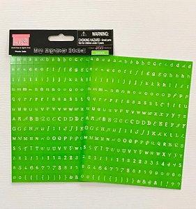 Adesivo mini alfa - Limeade - Verde Escuro - MLS